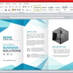 Editing a Free Brochure Templates for Google Docs & MS Word